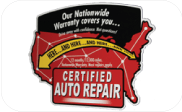 Certified Auto Repair Warranty